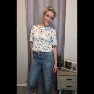 Urban Outfitters silence and noise floral crop top